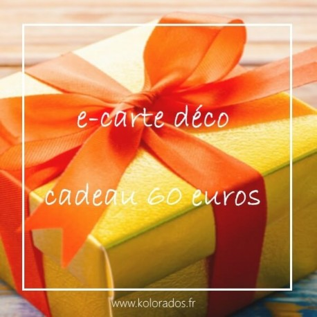Chèque cadeau de 60 €