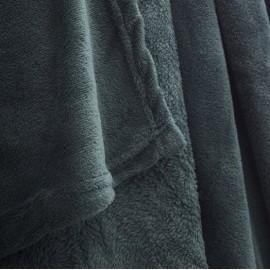 EMERAUDE - Plaid 150 x 200 cm - Couverture Polaire Verte