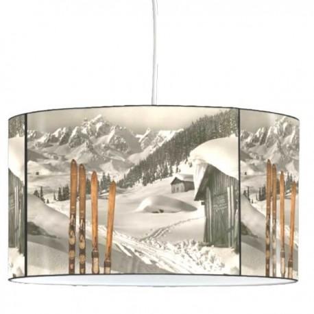 MODANE - Suspension Ronde PVC - Lustre - Plafonnier Imprimé Ski