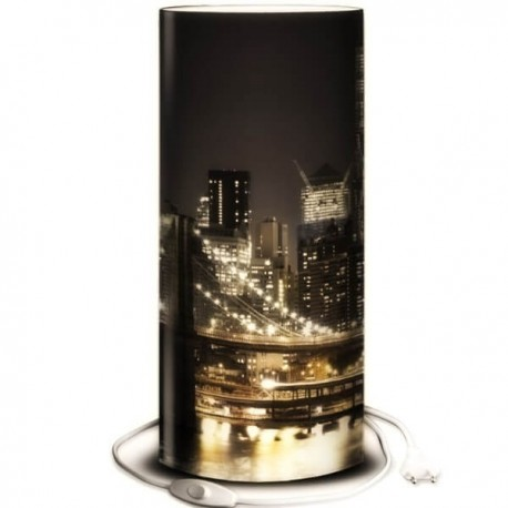 BROOKLYN - Lampe de Chevet 30 cm - Pont de New York