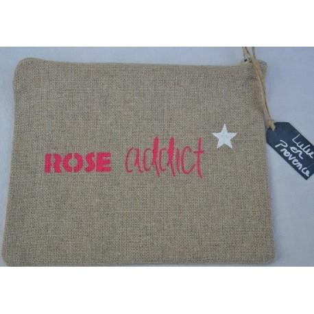 Pochette ROSE ADDICT, Lulu en Provence, rose fuschia