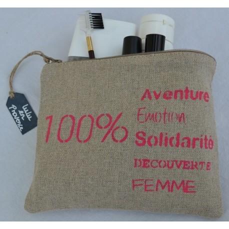 Pochette 100% Aventure, Lulu en Provence, rose fuschia