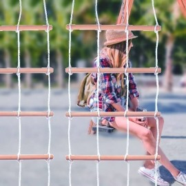 MALO - Filet d'Escalade Enfant - Mur en Corde Tressée