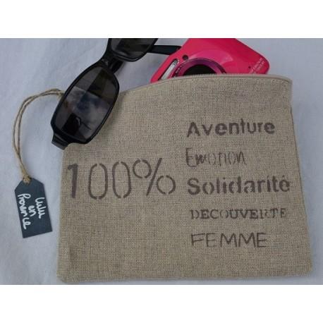 Pochette 100% Aventure, Lulu en Provence, argile