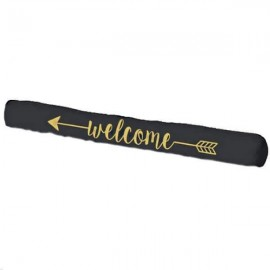 WELCOME - Boudin Bas de Porte - Chien Isolant Or & Noir