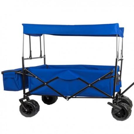 LANTON - Chariot de Courses Pliable avec Toit en Toile