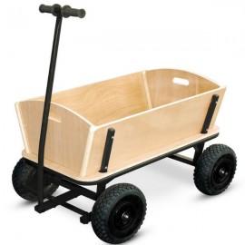 SAUMUR - Chariot de Courses en Bois XXL avec Poignée