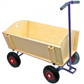 MACAU - Grand Chariot de Transport en Bois et Métal