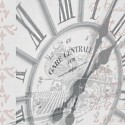 RAIL - Lampe de Bureau 40 cm - Design Horloge de Gare