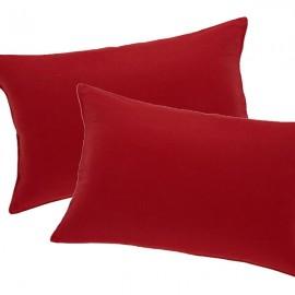 CAPUCINE - Housse de Coussin 30 x 50 cm - Velours Rouge