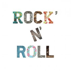 ROCKNROLL - Lettres en Medium - Sticker Auto Adhésif