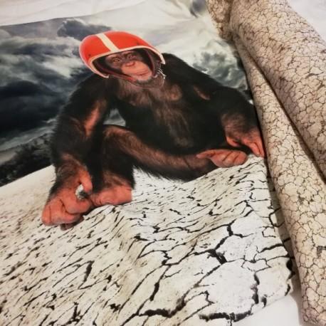 GARY - Edredon Enfant - Boutis Motif Singe - Jersey Coton