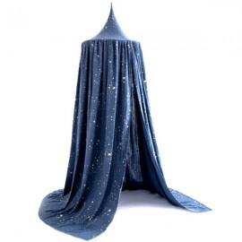 ANAIS - Ciel de Lit Etoilé - Chambre Fille - Coton Bio Bleu