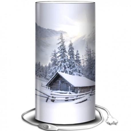 CHALET - Lampe à Poser 80 cm - Décor Neige et Montagne
