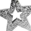 STAR - Etoile Métal Argenté - Décoration Noel Bijou Design