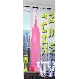 Voilage EMPIRE, BUILDING fluo NEW YORK