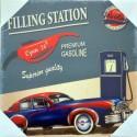 STATION - Toile Imprimée Vintage - Décoration Murale
