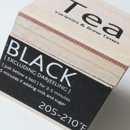 TEA - Boîte à Thé Bois - Infusions & Arômes Cuisine Design