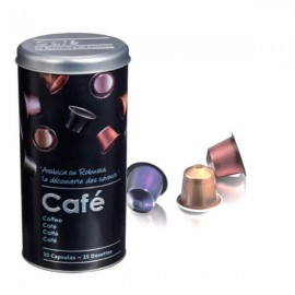 EDGAR - Boîte Métallique Ronde - Boîte Capsules de Café
