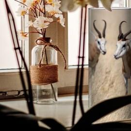 KENYA - Lampe de Chevet 30 cm - Motif Gazelles Afrique