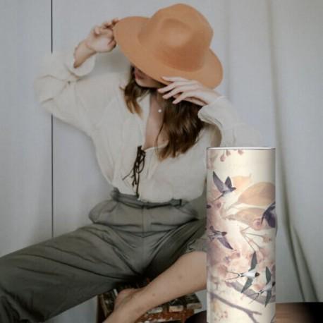 THEA - Lampe de Chevet 30 cm - Motif Nature Romantique