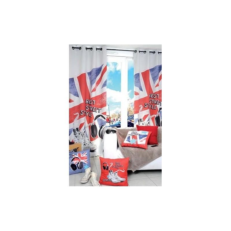 Déco Chambre Union Jack : Voilage chambre adolescent union jack baskets ecouteurs