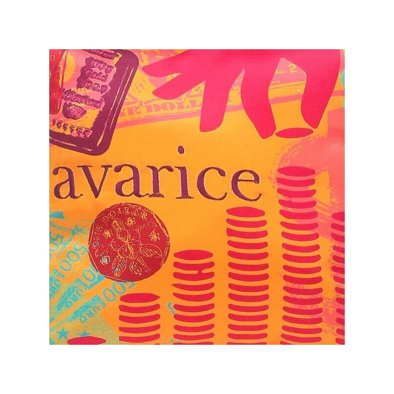 AVARICE - Coussin 30x30 Brodé Imprimé - Décoration Maison - Kolorados