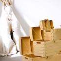 CLOVIS - Caisses en Bois - 3 Caissons Chambre Enfant Pirate