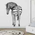 ZEBRE - Sticker Mural Auto-Adhésif - Animal Sauvage Zoo