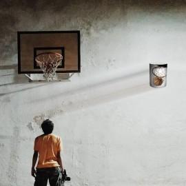 BASKET - Applique Murale Basketball - Luminaire Motif Sport
