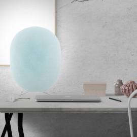 OASIS - Lampe de Chevet 42 cm - Forme Ovale - Cocon Bleu