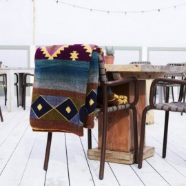 TARA - Plaid Imprimé 200 x 235 cm - Tissé Alpaga Coton