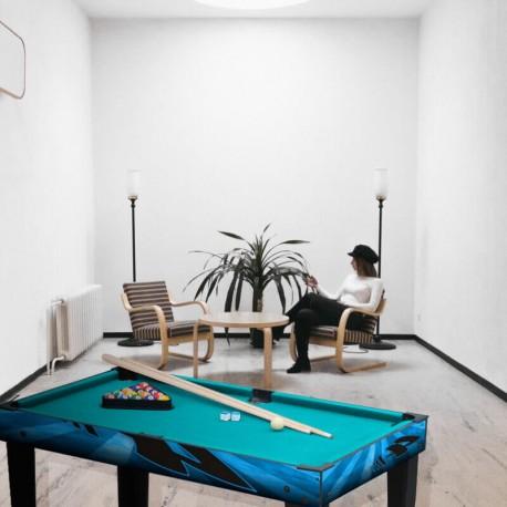 LUIGI - Table de Jeux Babyfoot - Billard - Ping Pong - Palet