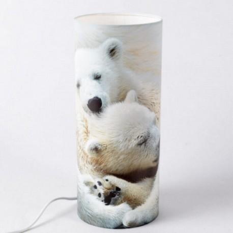 SERVOZ - Lampe de Chevet 30 cm - Décor Montagne Ours