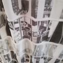 NEW YORK - Voilage Imprimé USA - 140 x 240 - 8 Oeillets