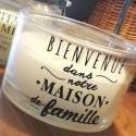 BLANCHE - Bougie d'intérieur Ronde Parfumée - Message