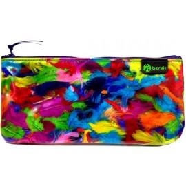 Trousse à crayons XICO PLUMAS aux plumes colorées