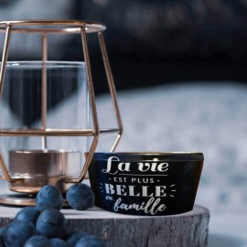 ZEPHYR - Bougie d'intérieur Ronde - Parfum - Message