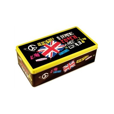 Boîte métallique REBEL KISS pour les ados fans de rock