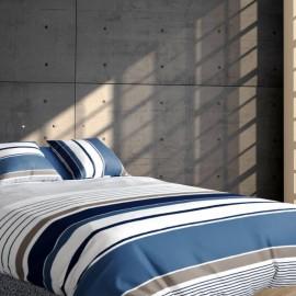 SETE - Housse de Couette 220 x 240 cm à Rayures - Percale