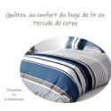 SETE - Housse de Couette 200 x 200 cm à Rayures - Percale