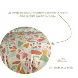 LILLY - Housse de Couette 240 x 260 cm - Imprimé Floral