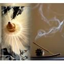 ZEN - Lampe de Chevet 30 cm - Motif Naturel Romantique