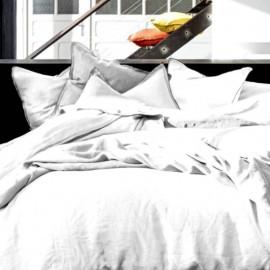 THAA - Housse de Couette 240 x 260 - Lin Lavé - Uni Blanc