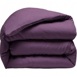 ARLES - Housse de Couette 240 x 260 - Lin Lavé Uni Violet