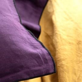 ARLES - Housse de Couette 220 x 240 - Lin Lavé Uni Violet