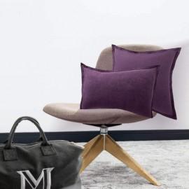 ARLES - Taie d'Oreiller Rectangle 50 x 70 cm - Lin Uni Violet
