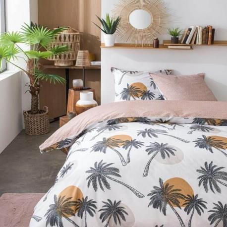 PALMYRE - Housse de Couette 240 x 260 cm - Palmiers