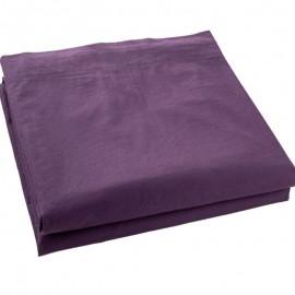 LUNEL - Drap Plat 240 x 300 cm - Percale - Uni Violet