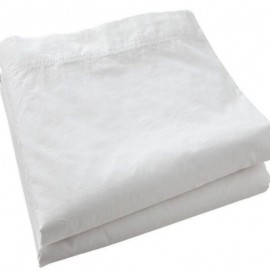 OLONNE - Drap Plat 240 x 300 cm - Percale - Uni Blanc